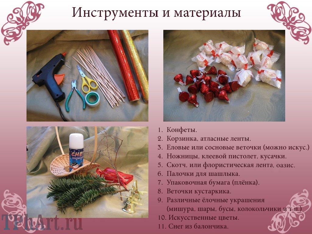 новогодний букет из конфет мастер класс - Сайт о бисере.